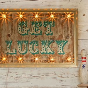 chalky paint, colourmans, illuminated sign, fairground sign, fairground lights, circus sign, sign with lights, vintage sign, metal sign, fairground light supplies, sign maker, bespoke sign, wooden star, star with lights, vintage star, personalised sign