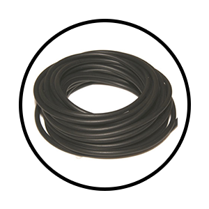 Black Rubber (outdoor use): 4m