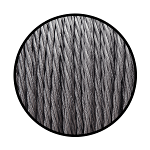 Twisted Charcoal Grey: 2.5m