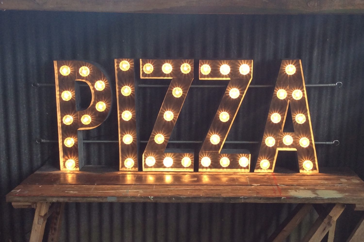 Pizza Sign made for award winning pop up restaurant