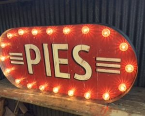 Street Food Signs, signs for street food vendors , aged zinc and reclaimed wood americana pies sign