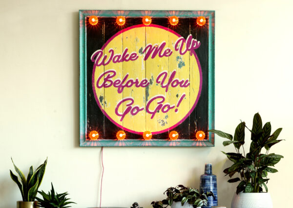 wham, George Michael memorabilia. carnival sign, circus sign, fairground sign, neon sign, retro light, retro style, vintage, vintage light, neon sign, led sign, design my own neon light, how to design my own neon light, personalised sign,