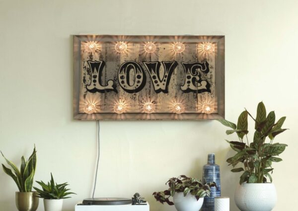 GREY LOVE SIGN, neon love sign, neon sign, neon light